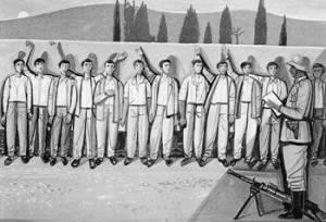 1η Μάη 1944. Η εκτέλεση των 200 της Καισαριανής. Εργο του Τάσσου