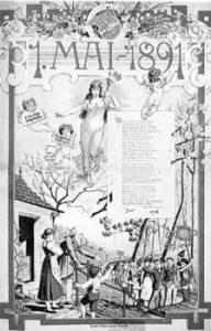 Αυστριακή αφίσα για την 1η Μάη 1891