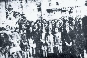 Διαμαρτυρία γυναικών κλωστουφαντουργών στο Μεσοπόλεμο