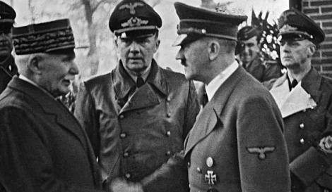 O στρατάρχης Πεταίν με τον Χίτλερ
