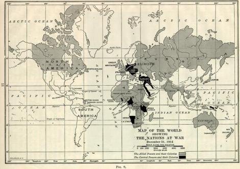 Χάρτης των εμπόλεμων χωρών