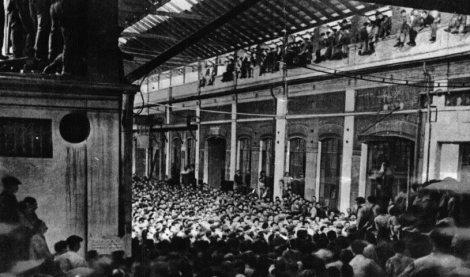 Εργοστάσιο στην Ιταλία υπό κατάληψη από τους εργάτες (1920)