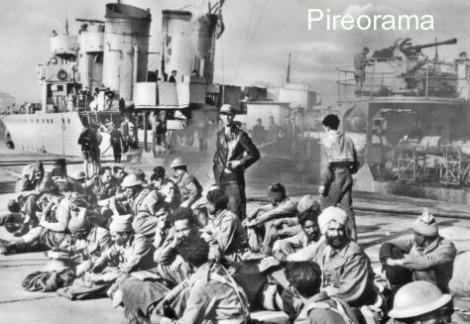 Ινδικά αποικιακά στρατεύματα στον Πειραιά